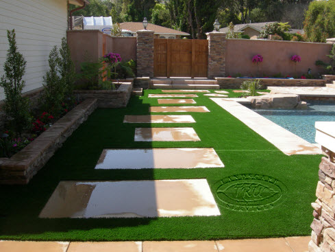 Synthetic Turf Around Pools - Orange County Landscape ... on Backyard Ideas Concrete And Grass id=72294